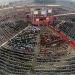 Aerial View of Drum Circle, VadFest event on 23rd January at Samta Ground, #Vadodara #Baroda http://t.co/mY0UAbzRj0