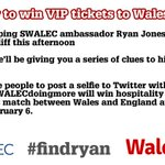 Weve got Wales v England tickets to give away with @SWALEC. Heres how to win... http://t.co/oq2qJwk73h #findryan http://t.co/Uh7W1miPAP