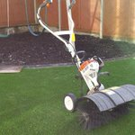 #Artificialgrass ready for a brush up in #Wales Need a quote? #www.greentoplandscapes.co.uk http://t.co/R6D68aw7hd