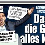"""Widerlich! BILD schwenkt wieder die nationalistische Keule & hetzt gegen """"DIE Griechen""""- gegen die ärmsten Griechen! http://t.co/UjR2DG5LEv"""