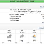 St. Johns-metro to get 2-4 cm of snow today, 5 cm snow & ice pellets tonight, rain tonight and Wed. a.m. #nlwx http://t.co/W8WbZO0jnh