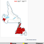 N. Pen.east, NL west coast to get 15-20 cm of snow. More in Live Telegram Blog http://t.co/P82IIdrju4 #nlwx http://t.co/lth7VXqao7