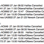 Quite a few cancelled flights at St. Johns Intl #yyt Stormy weather affecting U.S. and Maritimes #nltraffic http://t.co/8LCtVsySMY
