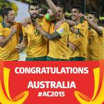 Congratulations @Socceroos on reaching the 2015 #ACFinal!! #AUSvUAE #AC2015 http://t.co/fWsxgDEWXt