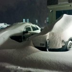 """Over 12"""" so far here at #Methuen PD as of 6 am. Need a plow to get these spare cruisers http://t.co/9k0liOohmA"""