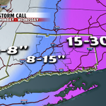 #blizzardof2015: Revised snowfall projections: 8-15 inches in central CT, less to the west http://t.co/pTMsC5mXY2 http://t.co/CY2S6X0buC