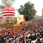 Thousands of devotees witness the annual car festival - Kodial Teru in #Mangalore http://t.co/vytz1UmLEG
