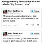 """National Weather Service Meteorologist Gary Szatkowski apologized Tuesday for what he called a """"big forecast miss."""" http://t.co/vyFo50kmqY"""