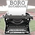 """Are we into """"squeaky bum time"""" already? @andrew_glover is terrified. #Boro Notebook: http://t.co/XqpduHBPpq http://t.co/97z91oIFpZ"""