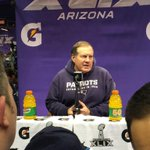Coach Belichick in the house #SBMediaDay http://t.co/rl8OBoNsmC