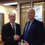 Tim Grover joining @albertaparty as exec director. With leader @GregClark4AB #ableg #cbc http://t.co/znpVY39sxm