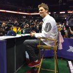 His hair is amazing. RT @AnthonyGulizia: Tom Brady has arrived at #SBXLIX #MediaDay #Patriots http://t.co/nAfwbt5ZXB