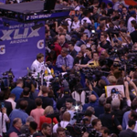 Tom Brady is a popular guy at Media Day http://t.co/EeYtV5bFyc