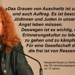 70 Jahre Befreiung des Vernichtungslagers #Auschwitz - dem #Antisemitismus keine Chance! @MargareteBause http://t.co/DUX6aRhsSr