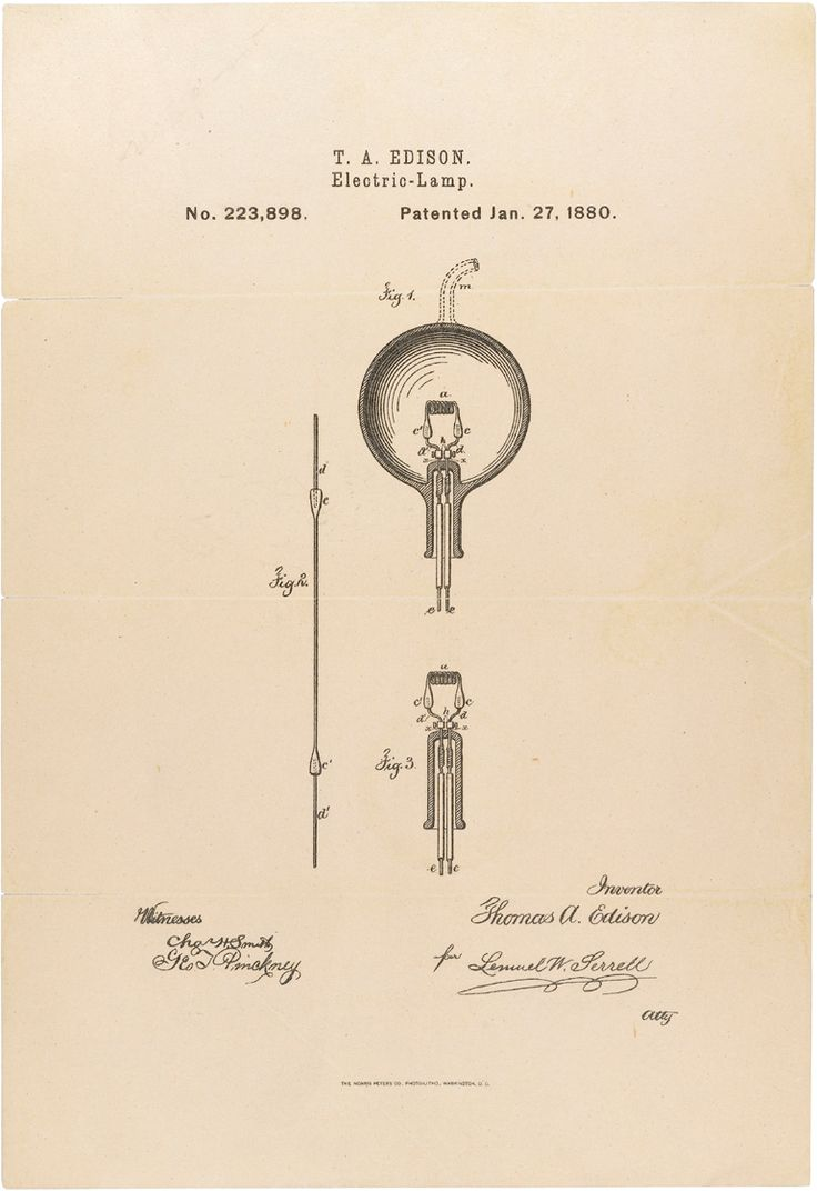 """Today in #History: Thomas Edison was granted a #patent for """"electric lamp for giving light by incandescence"""" in 1880. http://t.co/06Rg8jNvFl"""