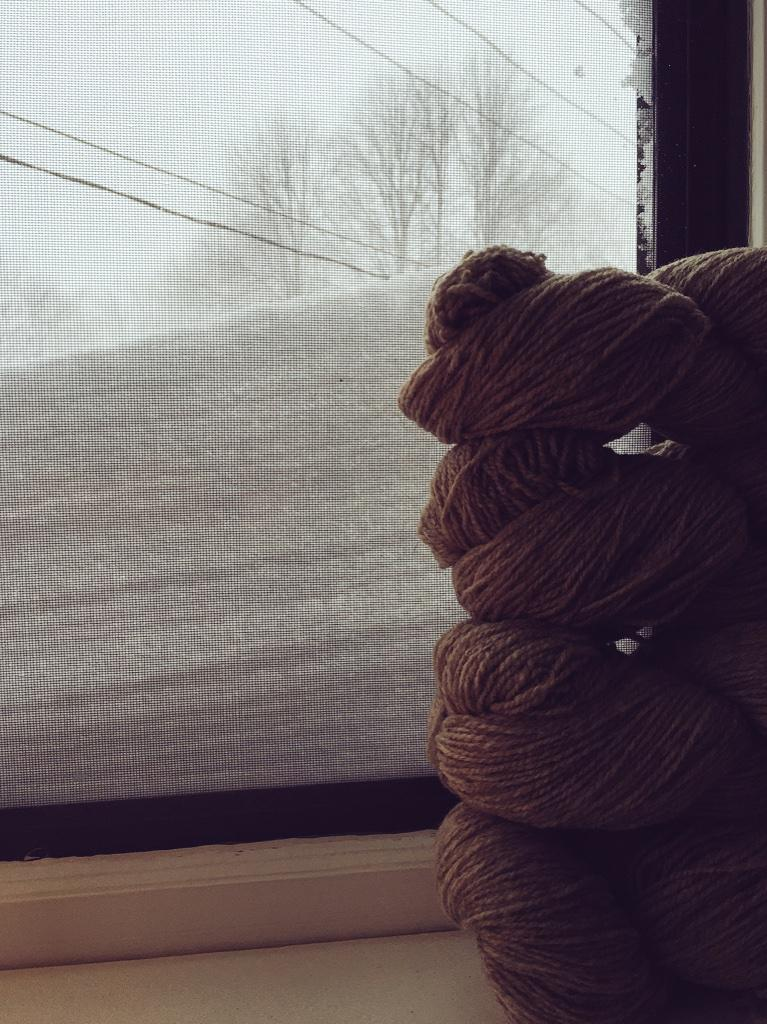 Here in Maine the snow accumulation has just topped four skeins. Back to you, Bob. http://t.co/PJz2mEVFsu