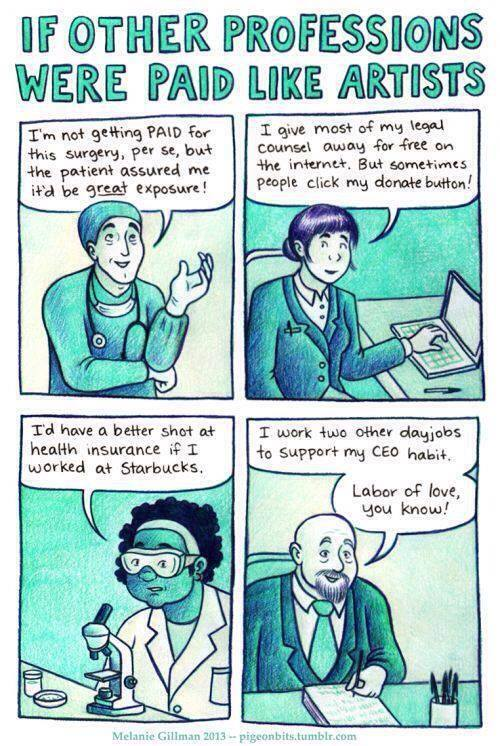 If other professions were paid like artists: http://t.co/CM320Me4tX