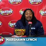 Marshawn Lynch spoke to the media finally but unfortunately it was the reporters for Skittles http://t.co/HDUQdRh7E8 http://t.co/pmMvyH6cQu