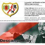 @RVMOficial La puerta 1 del Estadio de Vallecas se llamará Wilfred Agbonavbare http://t.co/yMajH9m6nq