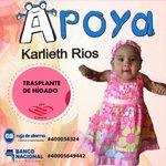 La pequeña Karlieth necesita un trasplante de hígado que cuesta más de $100 mil. Ayúdale con un aporte. http://t.co/QUS46mtaE7