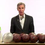 Watch Bill Nye demonstrate Bill Belichick's faulty #Deflategate science http://t.co/ngFJgFLyCD http://t.co/rf9U0oK91s