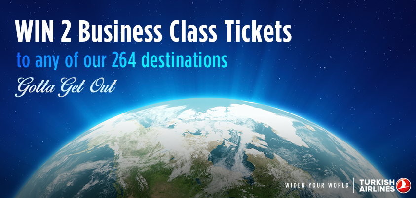 Use TurkishAirlinesG2Go to nominate someone special to win 2 Business Class tickets! US only.