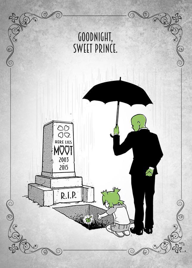 Goodnight, sweet prince. @moot 2003-2015. https://t.co/eqIL0LIOVi http://t.co/gzhVBIkDUI