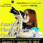 Photo contest deadline this Sat! Winners exhibit in Art Gallery at Central & @CityKitchener. http://t.co/RD4y105BJr http://t.co/UMIzZzh06m