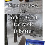 Freezing rain is coming to #yeg - be prepared! Ice Melt on Sale Now! YUKON GOLD, 20KG BAG to -31C $19.95 #yegwx http://t.co/bb6iUMA46o