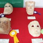 #Máscaras de #Carnaval  Increíbles rostros tallados en madera y pintados al óleo. Procedencia: Jesús Tlatempan. http://t.co/cpZh0z6gAT