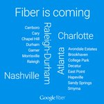 Google Fiber is coming to the Atlanta, Charlotte, Nashville, and Raleigh-Durham metro areas: http://t.co/l0spJrIiSk http://t.co/NFgOSwC7OJ