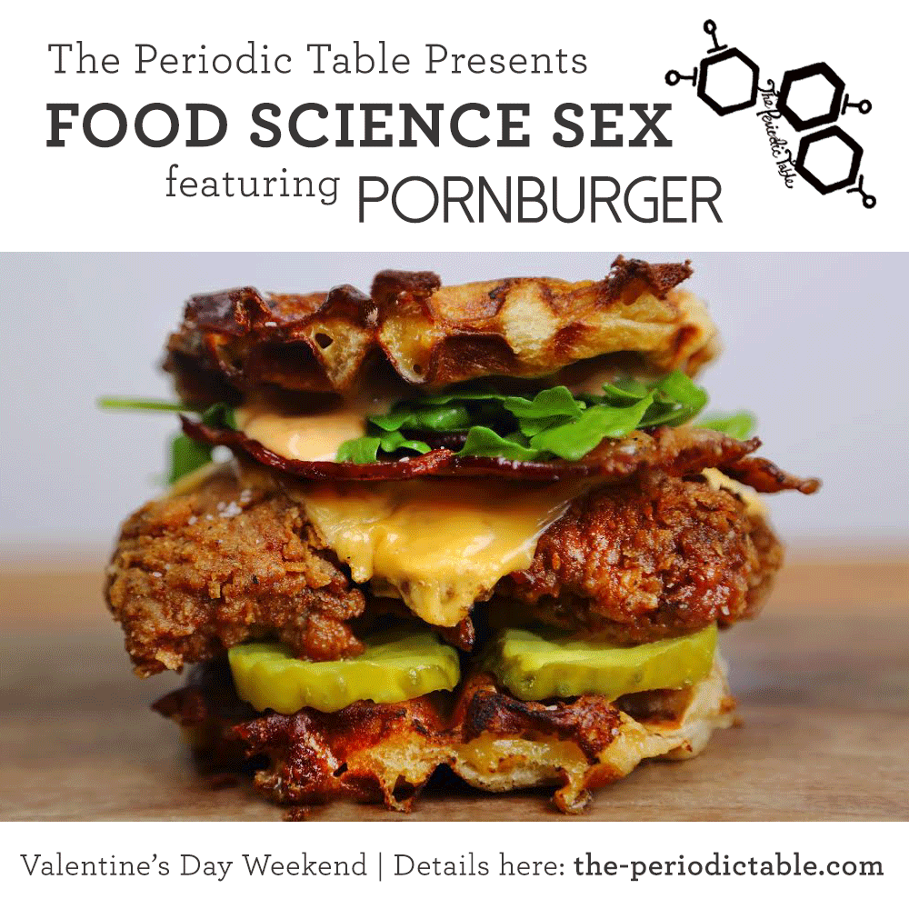 THE PERIODIC TABLE + PORNBURGER UNITE. Do not miss this: http://t.co/UDfFTmU7PG — with @SciencEric @mathewramsey http://t.co/IwSAJBsCz9