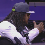"Marshawn Lynch is done at media day. Answered every question with ""Im here so I wont get fined."" #LIVEonSC http://t.co/3Tt9nxdBfJ"