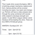 Baseball pitching with Coach Javi (9-15). Get your tune up! http://t.co/i9iWBGxMn2