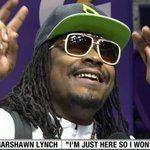 """VIDEO: @MoneyLynch answers every question at #SBMediaDay with """"Im here so I wont get fined"""" http://t.co/NZRKVgzEGc http://t.co/lw8Q85d6VQ"""