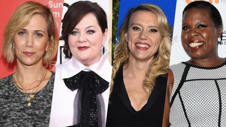 Who ya gonna call? Kristen Wiig, @melissamccarthy, Kate McKinnon and @Lesdoggg! #Ghostbusters http://t.co/h0BOLk0tcA http://t.co/ZUfp6snfG1