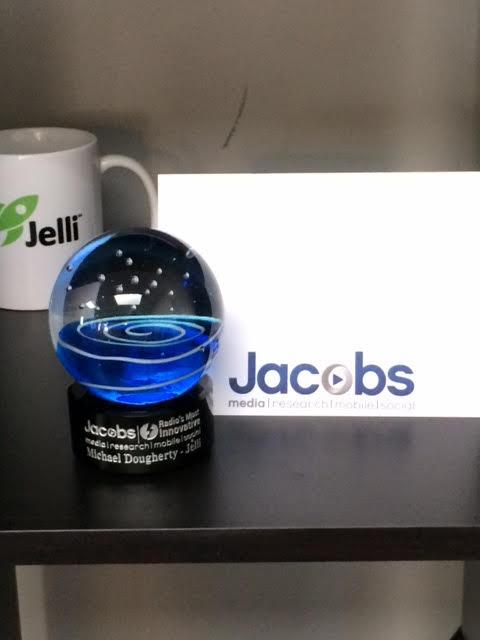 Thank you @jacobsmedia for our award 'Radio's Most Innovative' #programmatic #radio #Jelli http://t.co/cINehOZWct http://t.co/BjoRt0Nr6R