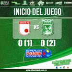 Inicia el compromiso entre verdes y cardenales en el estadio en El Campín. #MiNacionalenvivo http://t.co/WbNGwZwWow