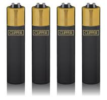 Clipper Feuerzeug Branded Gold Cap