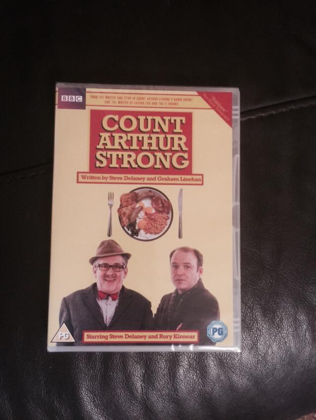 Royal Mail just delivered this — #countarthurstrong Series 1 only £7.99 from #Amazon - go buy it now! @Arthur_Strong http://t.co/5QNaF2hHjU