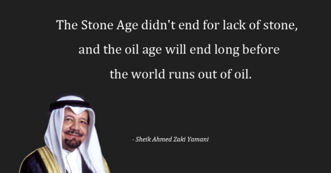 Refreshing revelation from the largest oil producer in the world. Oil will one day remain in the ground... untouched http://t.co/8vjfeI749M