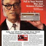 The iPhone is all very well, but the TRS-80 Pocket Computer was endorsed by Isaac Asimov. Beat that.