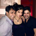 Guess what I found @shrutihaasan ! Last year's birthday party pic! The birthday girl @bhaavgandhi & yours truly! Muah