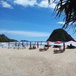 Jangan lupa makan siang gaes... Sini yukk makan ikan bakar di pantai bareng  #pulaumerah #banyuwangi http://t.co/1i000a4QFm