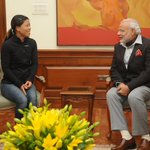 Twitter / @PIB_India: Indian Boxer, Mary Kom, ca ...