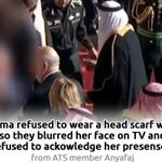#MichelleObama Face Blurred By Saudi State TV For Not Wearing Scarf http://t.co/xzO3ceMTaV #Michelle_Obama_NotVeiled http://t.co/B5ANwbf0TG