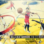 What. A. Game. The Bulls end the Warriors' home winning streak at 19 games with a 113-111 OT win! http://t.co/pfL3MHP19q