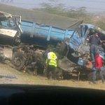 #AccidentAlert Involving 2 trucks along Mombasa road near Green Park estate in Athi River. Photo via @KimMUSAU http://t.co/pJYP6doL5w