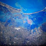 Hello #Venice from #space! I have flown in the area many times, but never quite as high. http://t.co/KeqdV2k7cx