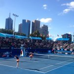 RT @thedavidoff: @MirzaSania and @BrunoSoares82 into semis! Picturesque court 2 with Melbourne in the background here @AustralianOpen http:…